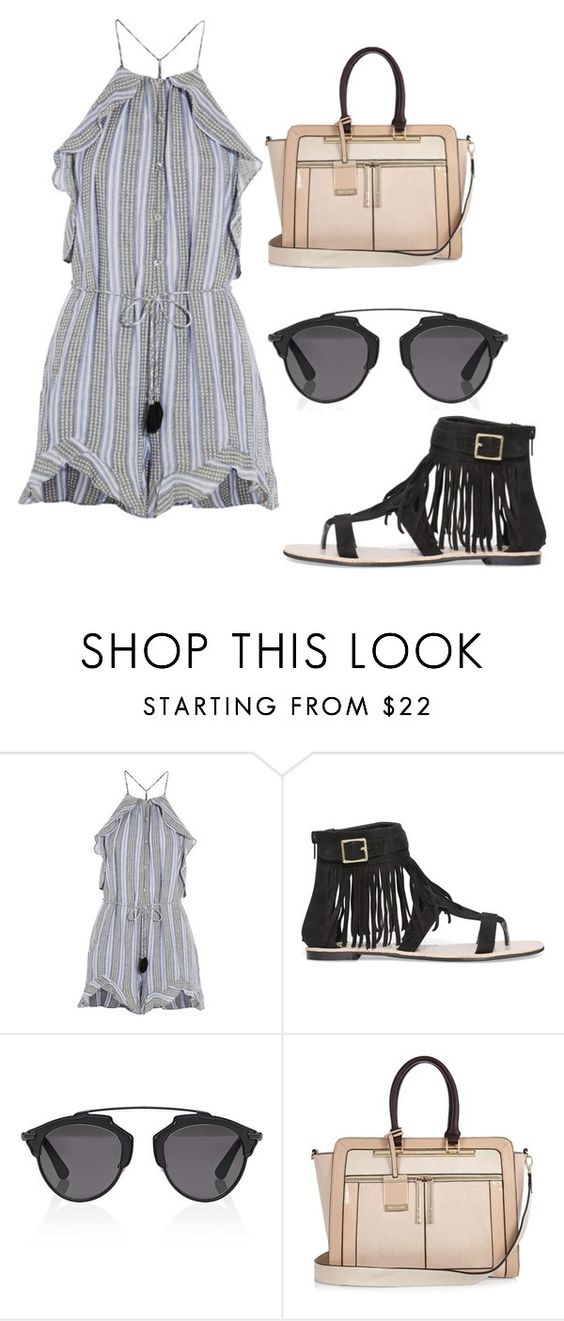 """Look #3576"" by luiza-halembeck ❤ liked on Polyvore featuring Zimmermann, Christian Dior and River Island"