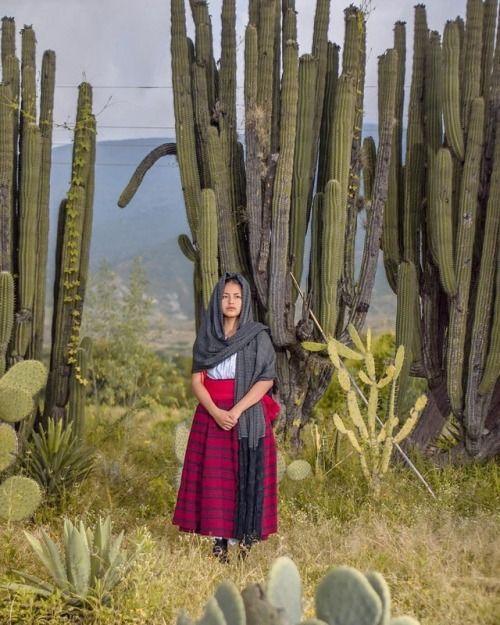 """""""Mujer oaxaqueña con el traje típico de San Pablo Valle de..."""