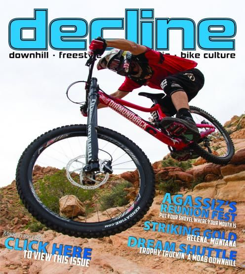 Helena Is Featured In Decline Magazine Downhill Freestyle All