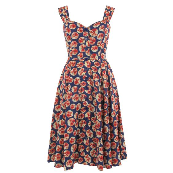 Emily and Fin Charlie Dress in Navy Floral