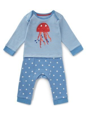 Pure Cotton Jelly Fish Onesie | M&S £12