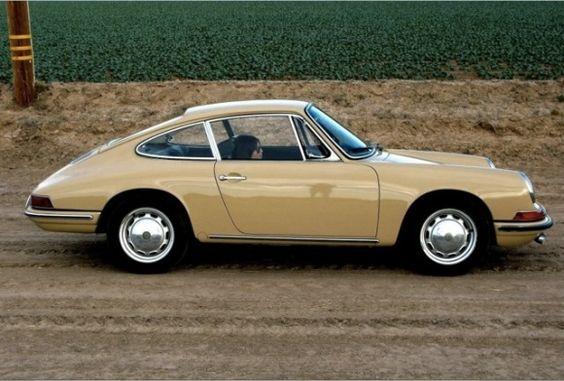 1965 sand-colored Porsche 912. Beautiful.