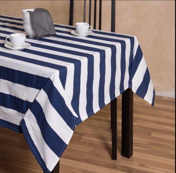 A personal favorite from my Etsy shop https://www.etsy.com/listing/266305212/cotton-striped-wedding-tablecloth-table