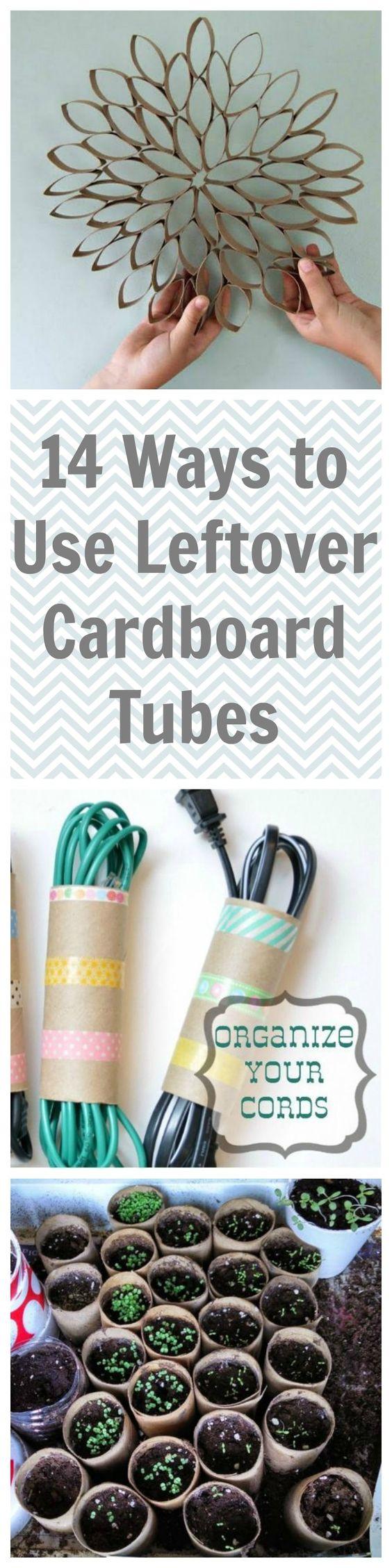 14 Brilliant Ways to Use Leftover Cardboard Tubes