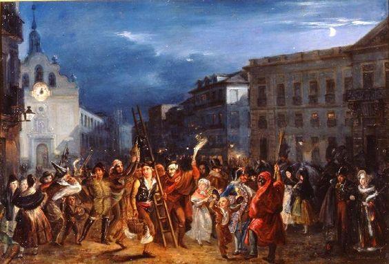 Noche de Reyes José castelaro 1839 puerta del Sol