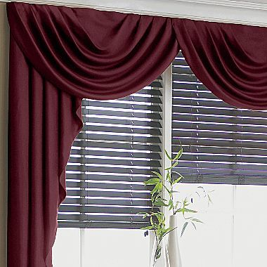 Supreme antique satin cascade swag valance jcpenney - Jcpenney bathroom window curtains ...