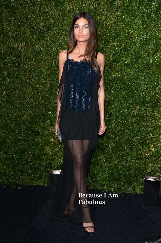 Fabulously Spotted: Lily Aldridge Wearing Chanel - Chanel Tribeca Film Festival Artists Dinner - http://www.becauseiamfabulous.com/2014/04/lily-aldridge-wearing-chanel-chanel-tribeca-film-festival-artists-dinner/