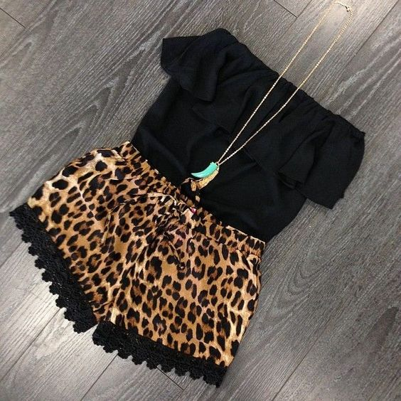 cheetah print  black w/ a hint of turquoise