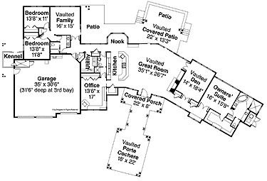 luxury style house plans 3538 square foot home 1 story 4 bedroom and 3 bath 4