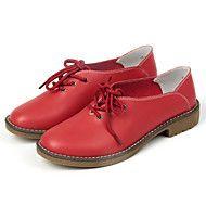 Zapatos de mujer Cuero Tacón Plano Punta Redonda ... – EUR € 24.99