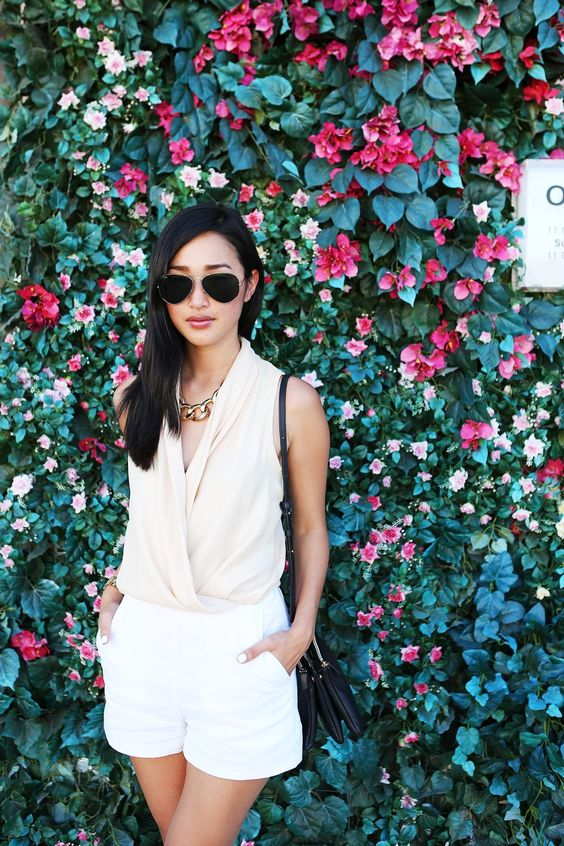 neutral: Asos Shorts, Statement Necklaces, Garypepper Neutral, Fashion Style, Gold Chain Necklaces, Gary Pepper