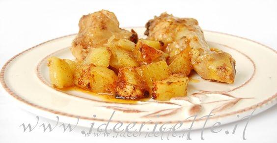 Ricetta Pollo con patate al cartoccio con pomodoro ed erbe aromatiche