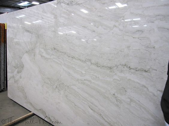 Sea Pearl Quartzite (more Of A Creamy White With Green Veining) Used In  Erika