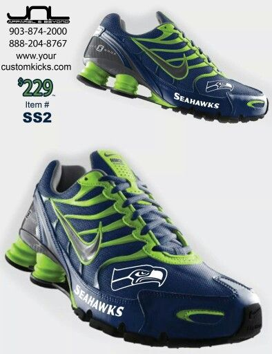 Nike Seahawks Shox | Seattle and the Seahawks | Pinterest ...