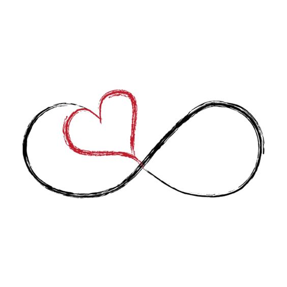infinity color heart hearts love 2nd tattoo ideas