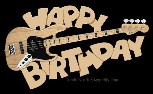 Happy Birthday Bass Guitar Fender Jazz With Images Fender