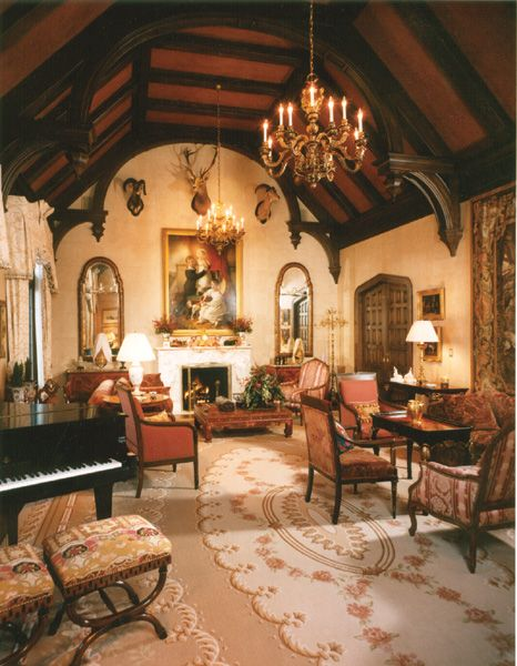 Victorian gothic style sitting room living rooms pinterest gothic sitting rooms and - Castle room decore ...