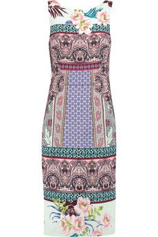 Etro Printed stretch-twill dress   THE OUTNET