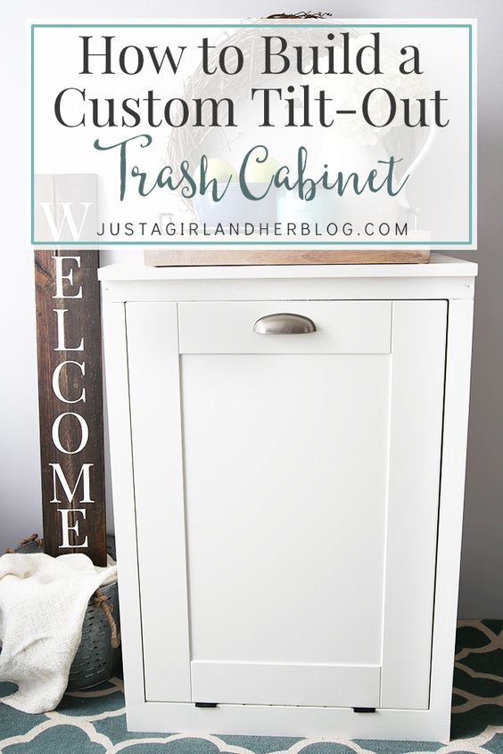 Awesome laundry in bathroom and cabinets on pinterest - Diy tilt out hamper ...