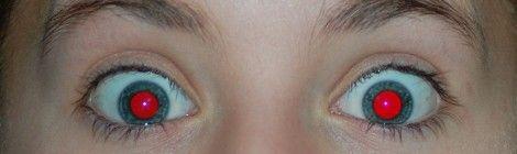 Wie entstehen rote Augen in Fotos?