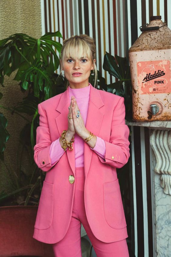 Writer Pandora Sykes discusses her latest obsession, the pink suit.: