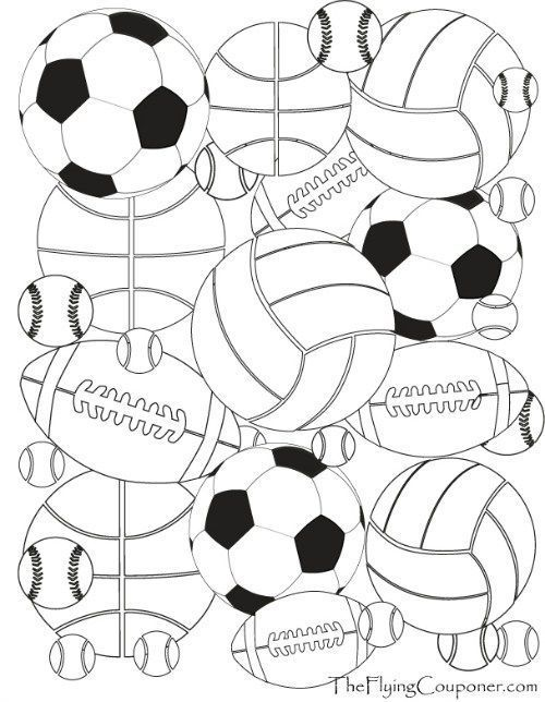 Colouring Pages For Adults And Kids Sports Coloring Pages