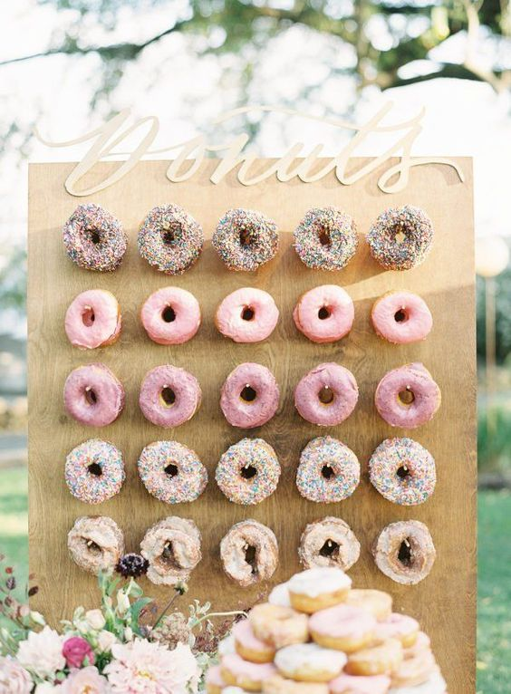 Donut wedding wall