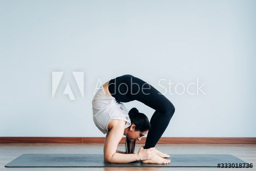 Pretty Sporty Indian Woman Doing Difficult Yoga Pose Ad Affiliate Indian Sporty Pretty Woman Pose In 2020 Difficult Yoga Poses Yoga Poses Poses