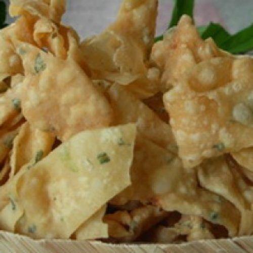Keripik Pangsit Bawang 310 310 Tokomesin Keripik Makanan Dan Minuman Pangsit