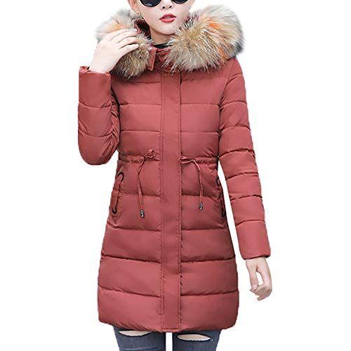 Damen Winterjacke Lange Daunenjacke Outwear Frauen Winter