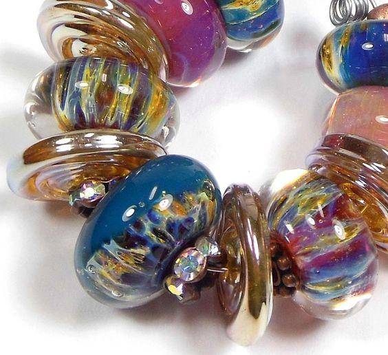 Quinlan Glass Bohemian Goddess Boro Handmade Lampwork Glass Beads #QuinlanGlass #HandwoundLampwork