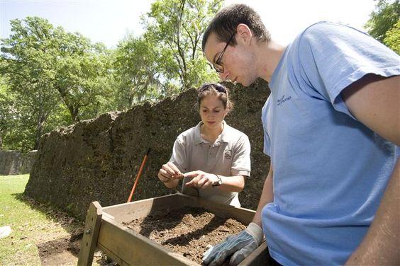 Archaeology at Colonial Dorchester/ statepark/summerville sc/ revolutionary war