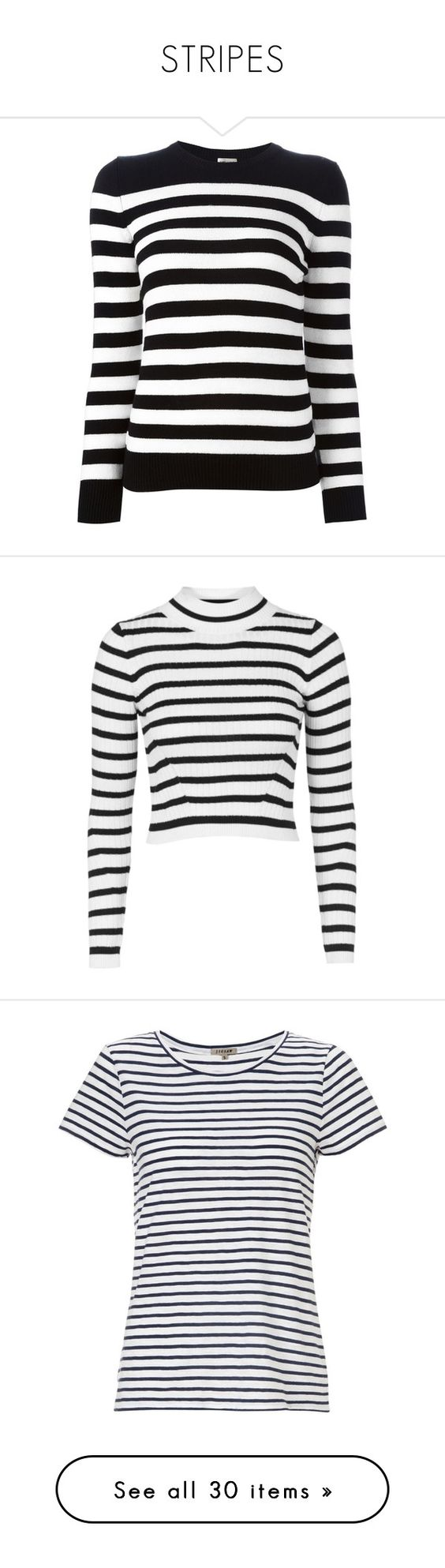 """""""STRIPES"""" by karvina on Polyvore featuring tops, sweaters, shirts, jumpers, black, crew shirt, horizontal striped shirt, crew neck sweaters, stripe shirt и striped shirt"""