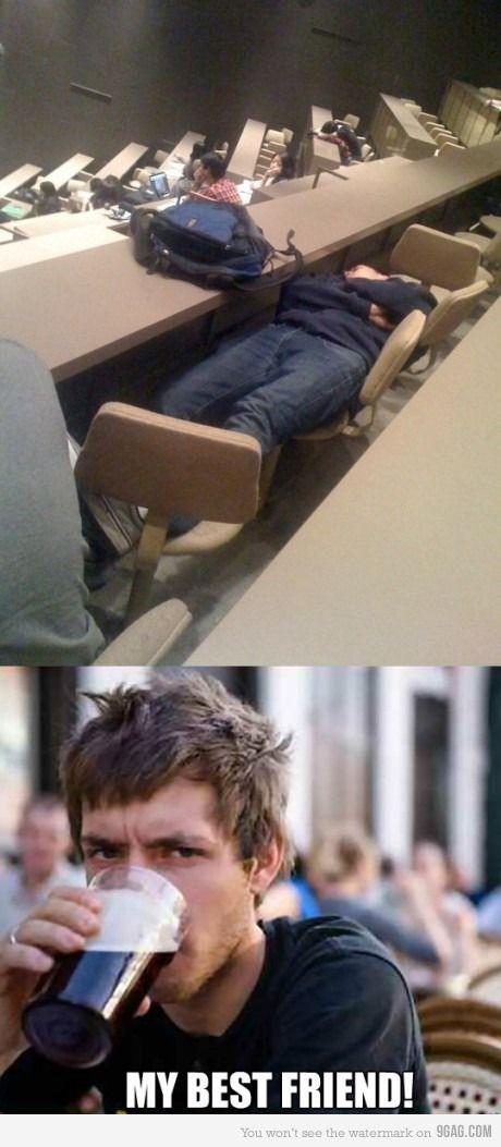 Lazy college seniors
