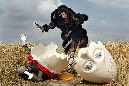 Karlie Kloss and broken Humpty Dumpty, Rye, 2010