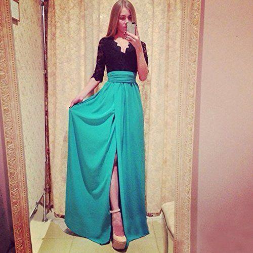 HSG hot sexy V-Ausschnitt Frauen Spitzen Chiffon lange Maxi-Kleid fuer Abend-Partei (gruen) HSG http://www.amazon.de/dp/B00V827PGG/ref=cm_sw_r_pi_dp_lLluvb1RKXTS1