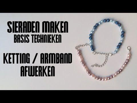 Ketting of Armband Afwerken - Sieraden Maken Basistechnieken - YouTube