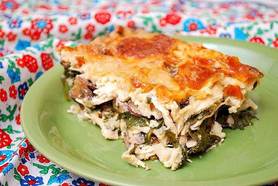 Chicken Florentine Lasagna.  I will substitute cottage cheese for ricotta.