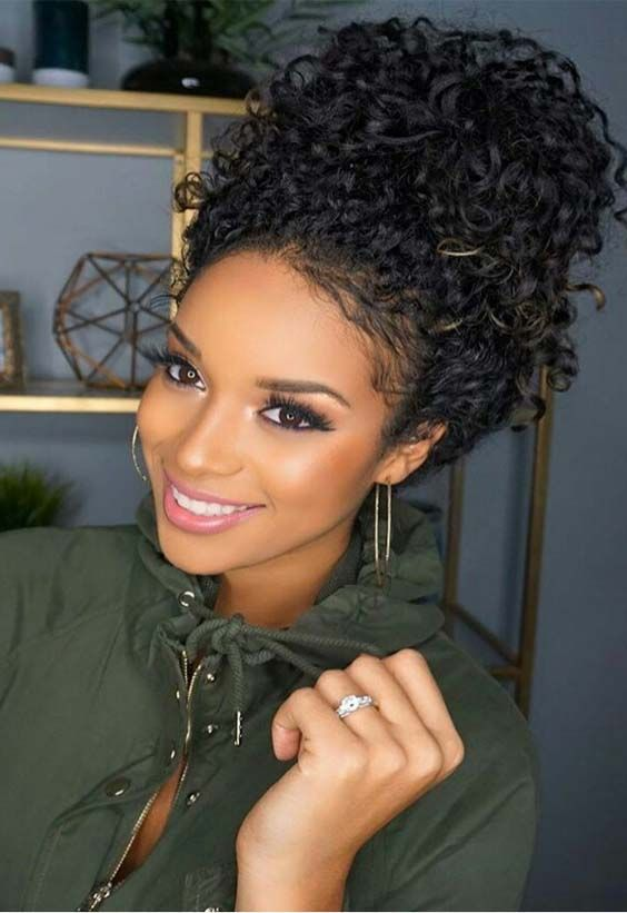 Latest 2018 Wedding Hairstyles For Black Women Cute Curly Hairstyles Medium Curly Hair Styles Curly Hair Styles Naturally