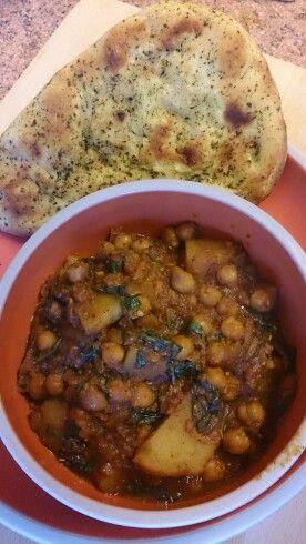 Chickpea & potato curry with guntur chillies & ancho powder