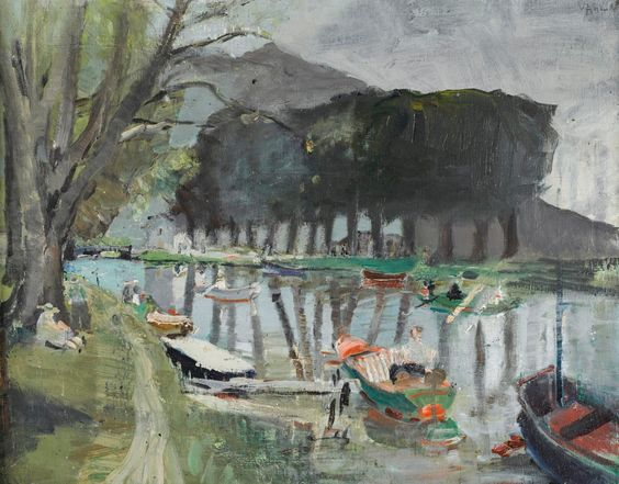 Varlin (Willy Guggenheim, 1900-1977) Villeneuve on Lake Geneva, c.1942-44