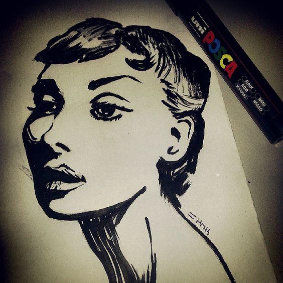 Audrey hepburn - Sketch N Kustom Design   Mark Bernard's Website