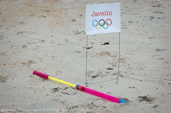 olympic bday party-javelin