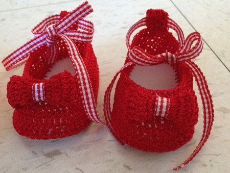 Crochet Tutorial Zapatitos : Zapatitos de Navidad: tutorial a crochet Tutorials, Tejido and Blog