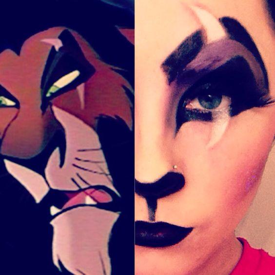 Lion king's Scar Halloween makeup