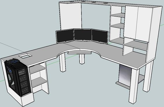 computer desk diy diy l shaped desk computer desks ideas computer desk