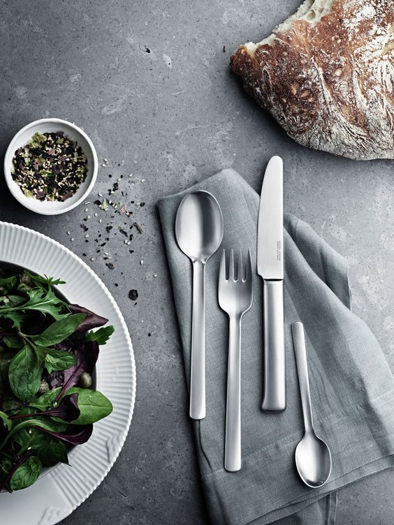 Whatever The Cuisine Make Your Dinner An Occasion To Remember With Georg Jensen Cutlery Exquisite Knives Fo Cutlery Design Tableware Photography Cutlery Set