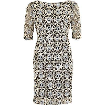 Silver sequin bodycon dress £60.00