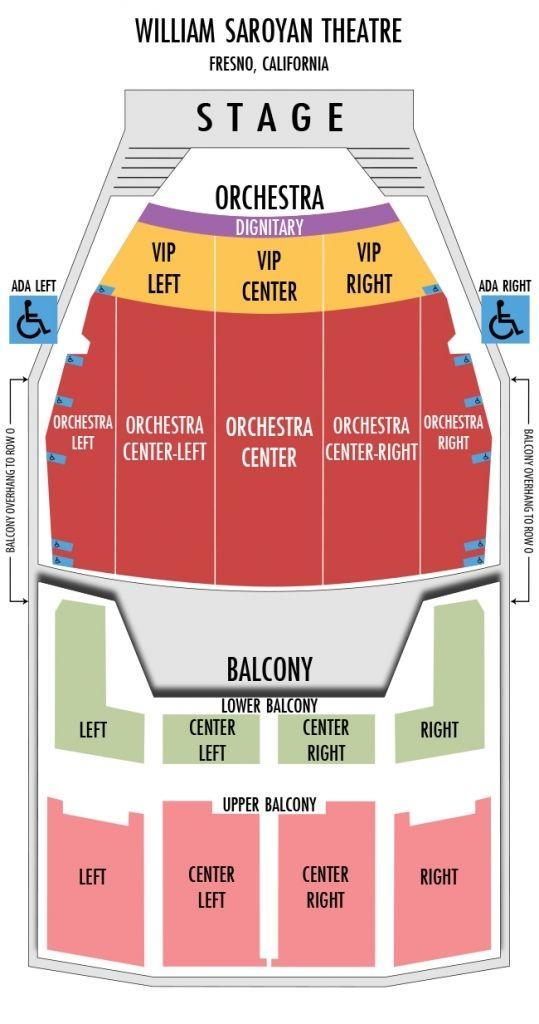 Incredible Saroyan Theater Seating Chart Di 2020