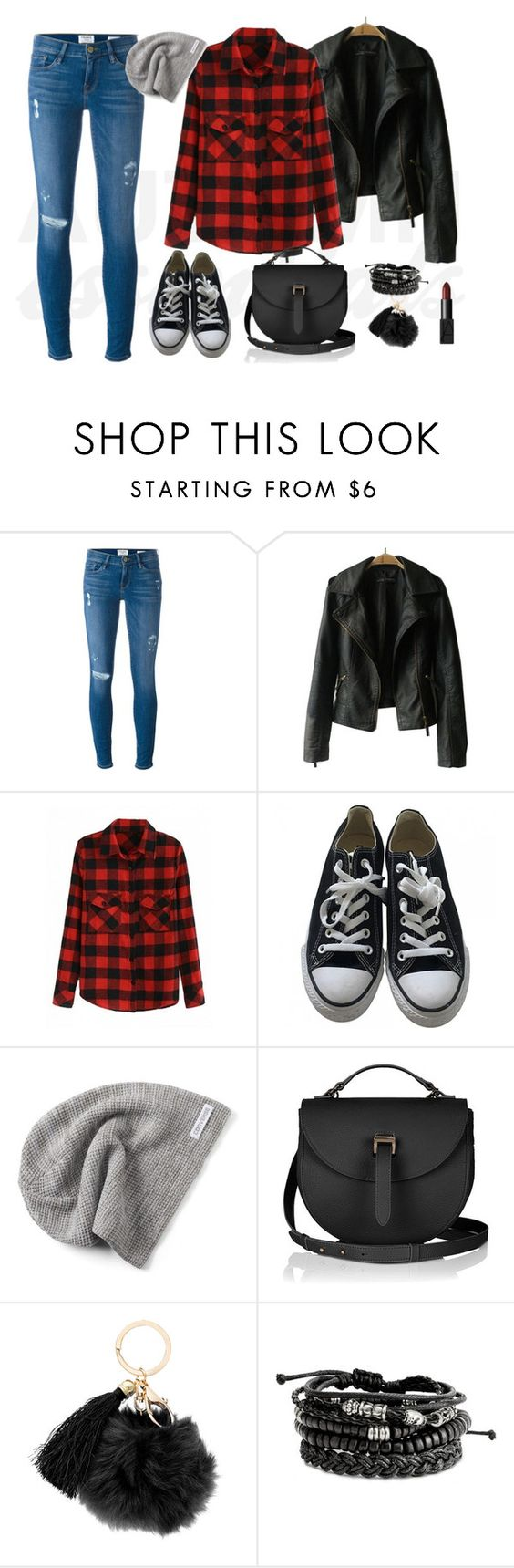 Black converse autumn set by siostranocy on Polyvore featuring moda, Frame Denim, Converse and NARS Cosmetics